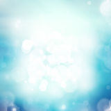 Abstract blue bokeh background Stock Photos