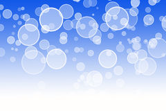 Abstract blue bokeh background. Chirstmas Royalty Free Stock Photography