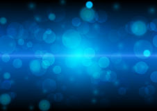 Abstract blue bokeh background for christmas vector design Royalty Free Stock Photos