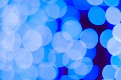 Abstract blue bokeh background. Close up bokeh lights stock photo