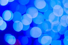 Abstract blue bokeh background. Close up bokeh lights. Circle shape bokeh. Abstract blue bokeh background. Deep blue wallpaper with bokeh effects royalty free stock images