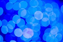 Abstract blue bokeh background. Close up bokeh lights royalty free stock photography