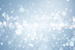 Abstract blue bokeh background. Abstract defocused blurred blue background Stock Photo