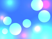 Abstract blue bokeh background. Stock Photos