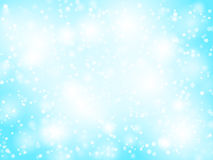 Abstract blue bokeh christmas background. With sparkles Royalty Free Stock Photography