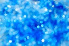 Abstract blue bokeh. Christmas background texture Stock Photos