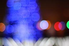 The abstract blue bokeh christmas lights Royalty Free Stock Photo
