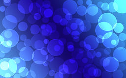 Abstract blue Bokeh circles for Christmas background vector illustration