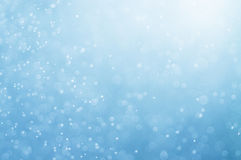 Abstract blue bokeh defocused background Royalty Free Stock Photos