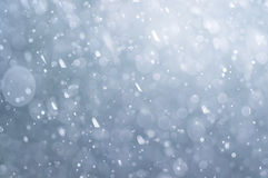 Abstract blue bokeh defocused background. With drops royalty free stock images