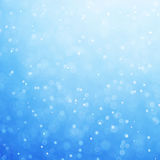 Abstract blue bokeh defocused background Royalty Free Stock Photography