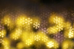 Abstract blue Bokeh snowflake. Light Stock Photo