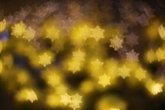 Abstract blue Bokeh snowflake. Light Royalty Free Stock Photography