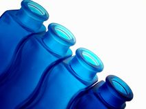 Abstract Blue Bottle Background Stock Photos
