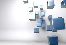 Abstract blue boxes Stock Photos