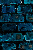 Abstract blue brick wall Royalty Free Stock Images