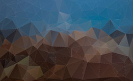 Abstract blue and brown Triangle Background, Vector Stock Photography