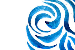 Abstract blue brush strokes on white paper background royalty free stock image