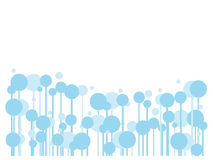 Abstract blue bubble for banners or your text. Vector illustration Royalty Free Stock Photo
