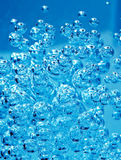 Abstract blue bubble Stock Images