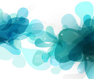 Abstract blue bubbles with place for your own text. Royalty Free Stock Photo