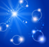 Abstract blue bubbles Royalty Free Stock Photo