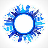 Abstract blue building design Stock Image