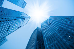 Free Abstract Blue Building Skyscraper Stock Images - 21035264