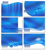 Abstract blue business backgrounds set Royalty Free Stock Images