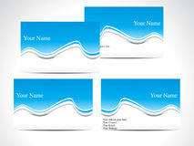 Abstract blue business card Stock Image