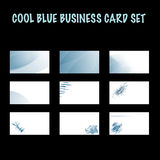 Abstract Blue Business Card Set Royalty Free Stock Image