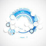 Abstract blue business science or technology background Royalty Free Stock Photos