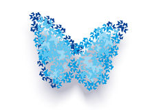 Abstract blue butterfly. Background. Vector illustration Royalty Free Stock Images