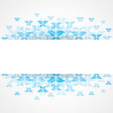 Abstract Blue butterfly design with copy-space Stock Image