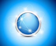 Abstract blue button Stock Photography