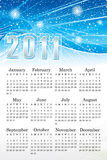 Abstract blue calendar. Vector illustration Royalty Free Stock Photography