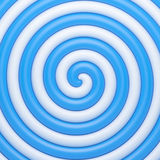 Abstract blue candy spiral background Stock Photos