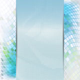 Abstract blue card or invitation template. Stock Image
