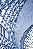Abstract blue ceiling interior background Stock Photo
