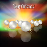 Abstract blue celebration greeting with Christmas tree Royalty Free Stock Photo