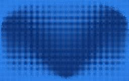 Abstract blue check or heart dotted background. Abstract monochrome blue dotted background with check, heart or wings symbol. Pop art retro texture for wallpaper Royalty Free Stock Photos