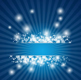 Abstract blue christmas background Stock Photo