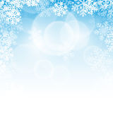 Abstract blue christmas background. With snowflakes vector illustration