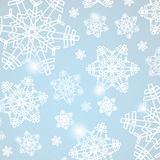 Abstract blue christmas background with snowflakes Stock Photography