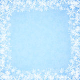 Abstract blue Christmas background with snowflakes. Stock Photography
