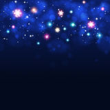 Abstract Blue Christmas Background Stock Photos