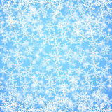 Abstract Blue Christmas Background With Snowflakes Royalty Free Stock Images