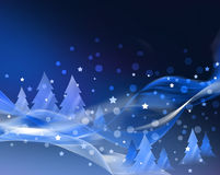Abstract blue Christmas card Stock Photos