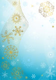 Abstract blue christmas frame Royalty Free Stock Photos