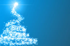 Abstract blue christmas tree Royalty Free Stock Photos
